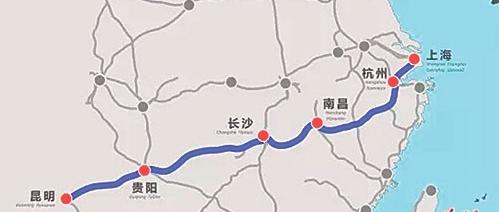 上海と昆明を結ぶ高速鉄道が1月5日から運行開始